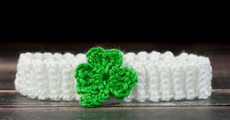 Free Crochet Shamrock Headband Pattern