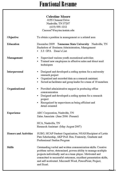 Proper Resume Format Sle by 3 Types Of Resume Formats 3 Resume Format Types Of