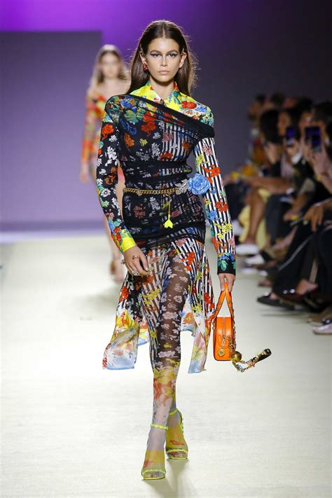Kaia Gerber Walks The Runway At Versace Fashion Show