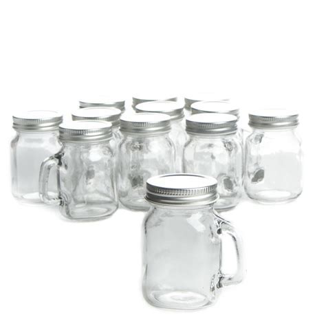 Small Clear Glass Mason Jar Mugs   Decorative Containers