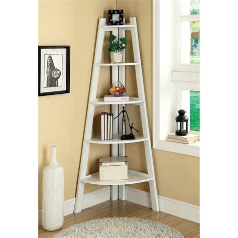 white corner bookshelf merill 5 tier ladder corner shelf white bookcases at