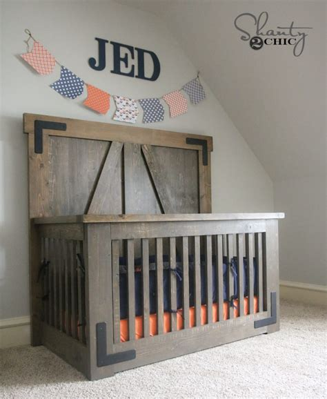 diy baby crib diy farmhouse crib free tutorial and plans shanty 2 chic