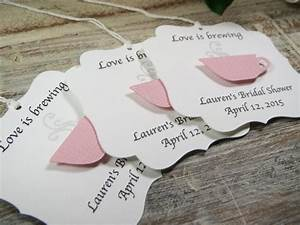 bridal shower favor tags love is brewing wedding favor With wedding favor thank you tags