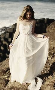 Boho beach wedding dress sangmaestro for Boho wedding dress beach
