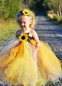 sunflower tutu dress wedding sunflower by With sunflower dresses for wedding