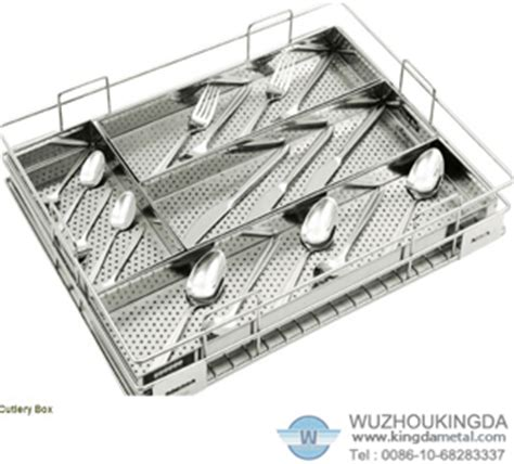 stainless steel perforated cutlery basketstainless steel