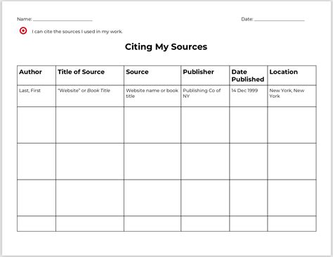 week research process graphic organizers