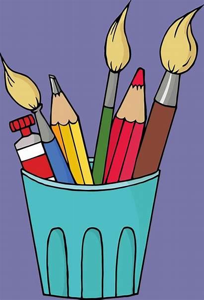 Supplies Clipart Craft Clip Materials Cliparts Arts