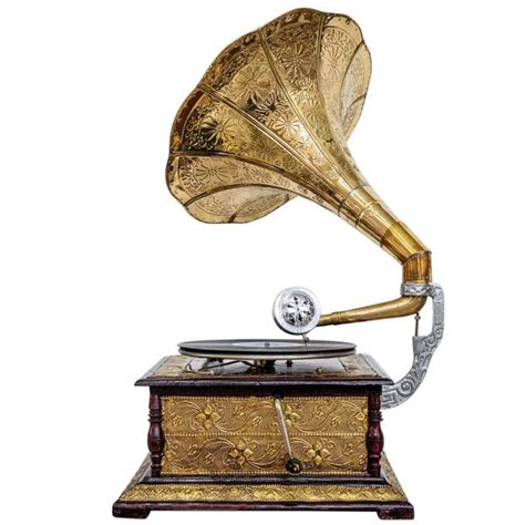 pattern etched golden horn gramophone zippay paypal