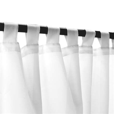 shop sheer white weathersmart outdoor curtain with tabs