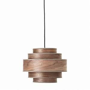 Suspension Bois Scandinave : bloomingville suspension scandinave ronde bois noyer walnut 82044126 ~ Melissatoandfro.com Idées de Décoration