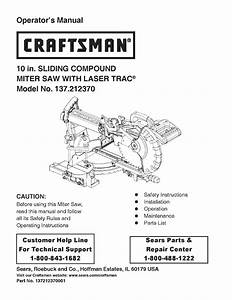 Craftsman 137 212370 User Manual
