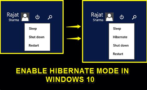how to enable hibernate mode in windows 10