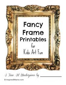 gallery activity picture frame printable b inspired
