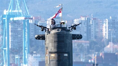Royal Navy Submarine Appears In Gibraltar Equipped With ...