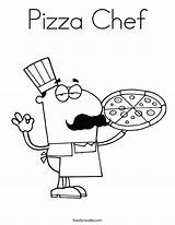 Pizza Coloring Chef Built California Usa sketch template