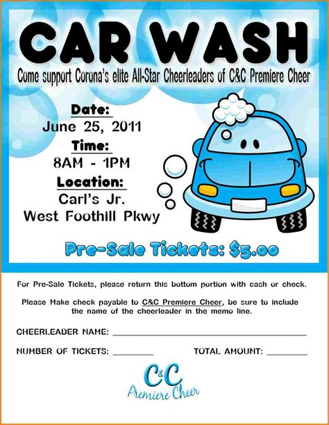 free car wash ticket template car wash flyer template authorization letter pdf