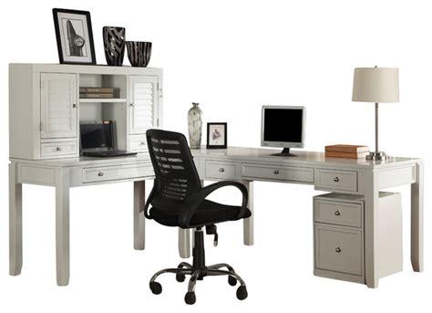 2 piece l shaped desk boca 4 piece l shaped desk cottage white finish farmhouse