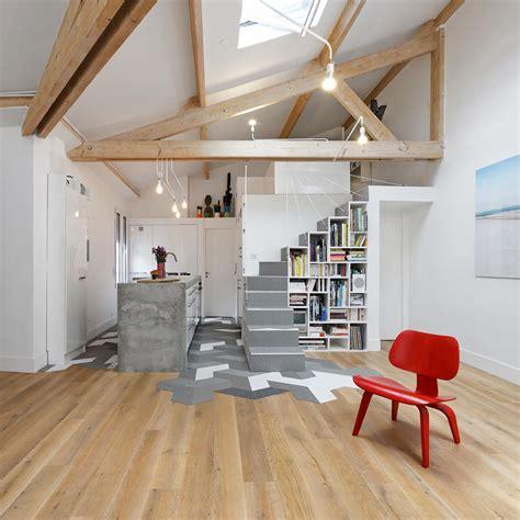 unconventional paris loft apartment  timeless modern