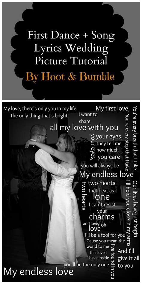 hoot bumble  dance song lyrics wedding picture