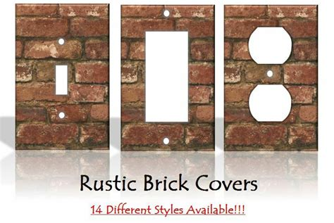 Home Decor Outlet: Rustic Brick Light Switch Covers Home Decor Outlet