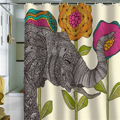 5 colorful modern shower curtains from deny designs