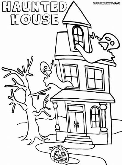 Haunted Coloring Forest Colorings Building Template
