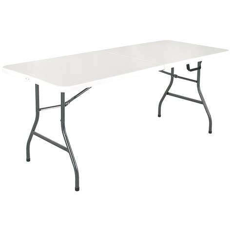 Cosco® 6' White Center Fold Table  618784, Kitchen. Wooden Trunk Coffee Table. Desk With Casters. What Is The Average Salary For A Help Desk Technician. Bush Bennington Managers Desk. Center Undermount Drawer Slides. Hobby Lobby End Tables. Round Table Dimensions. Pedestal Desk