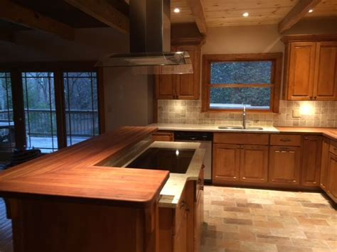 Brazilian Cherry Butcher Block Countertops with food safe