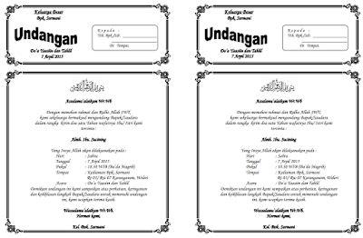 Format De Téléchargement Undangan Tahlil 40 Hari