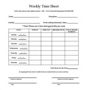 weekly employee time sheet 16 weekly timesheet templates free sample example