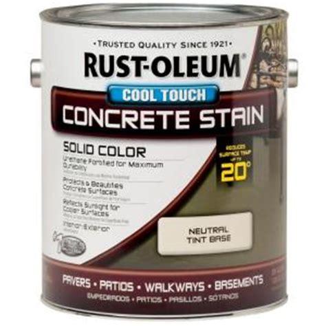 rust oleum decorative concrete paint rust oleum 1 gal concrete stain cool touch neutral tint