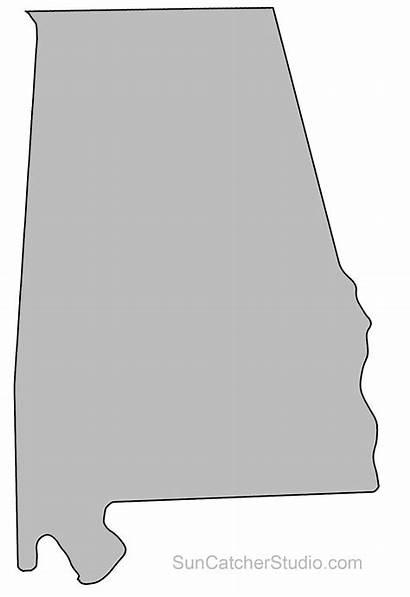 Alabama Outline State Map Printable Shape Template