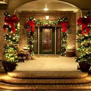 38, Welcoming, Christmas, Front, Porch, D, U00e9cor, Ideas