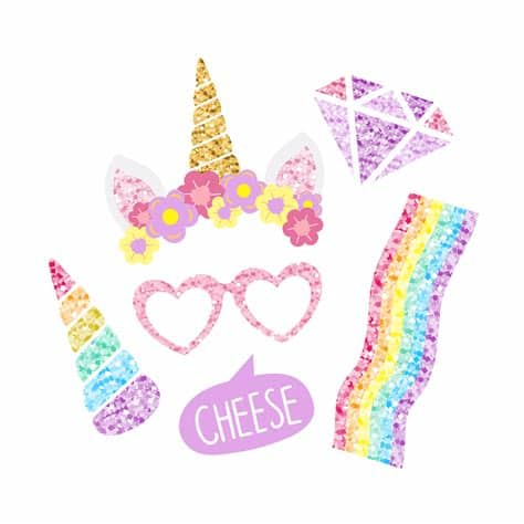 You can copy, modify, distribute and perform the work, even for commercial purposes, all without asking permission. Cute unicorn photo booth party props vector - Download ...
