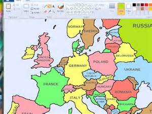 Europe Map with Countries Names