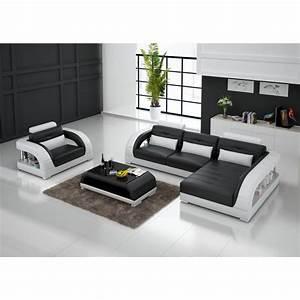 Canapé Cuir Fauteuil : canap d 39 angle en cuir pleine fleur enzo fauteuil pop ~ Premium-room.com Idées de Décoration