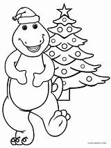 Barney Coloring Christmas Pages Dinosaur Colouring Printable Cool2bkids Tree Sheets Cartoon Easy Getcolorings Holidays Categories sketch template