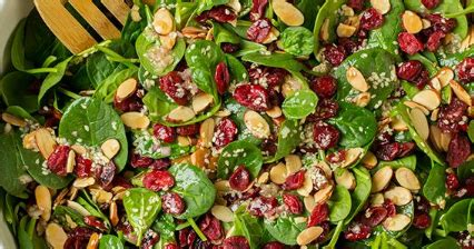 cranberry almond spinach salad snack food