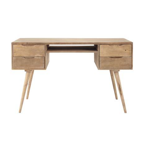 bureau 130 cm bureau vintage en manguier massif grisé l 130 cm trocadero