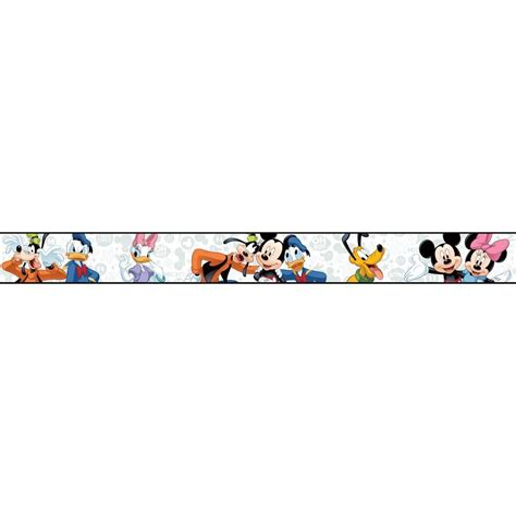 york wallcoverings walt disney ii mickey wallpaper border ds7807bd the home depot