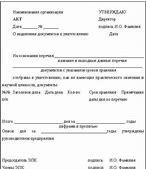 образец приказа списания материальных запасов в результате износа