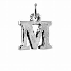 sterling silver alphabet letter m charm With sterling silver letters
