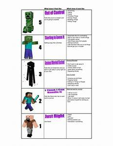Minecraft 5 Point Scale To Teach Emotional Regulation Concepts