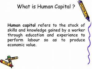 Human Capital Formation in India