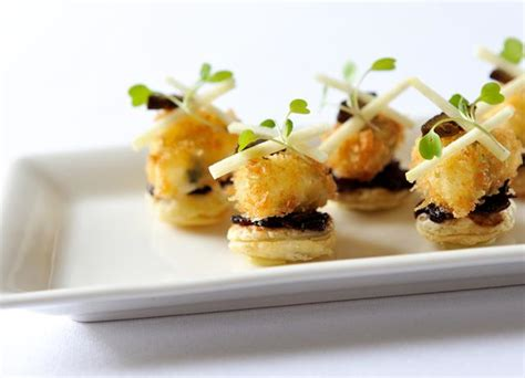 mini canape ideas tart canapé recipe great chefs