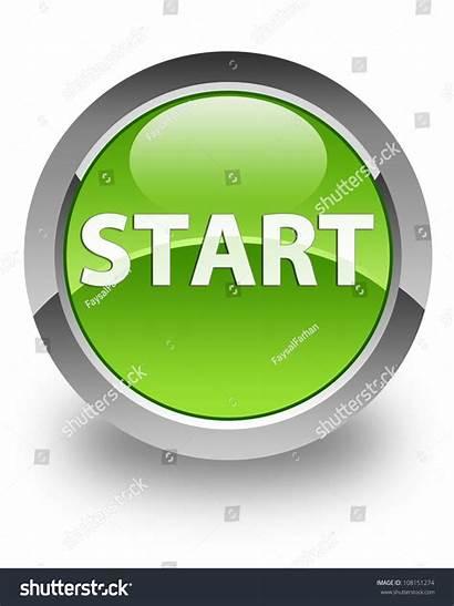 Start Icon Button Round Glossy Shutterstock