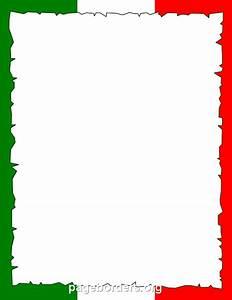 Italian Flag Border: Clip Art, Page Border, and Vector