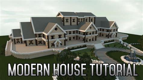 minecraft insane modern house tutorial part  xboxpc  finale youtube