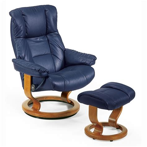 Small Recliner Chairs Shop by Stressless Mayfair Small Recliner Chair Ottoman Classic